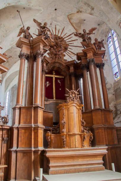 bernardine church, interior - batalina madonna стоковые фото и изображения