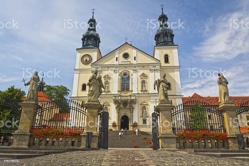 Bernardine monastery in Kalwaria Zebrzydowska stock photo