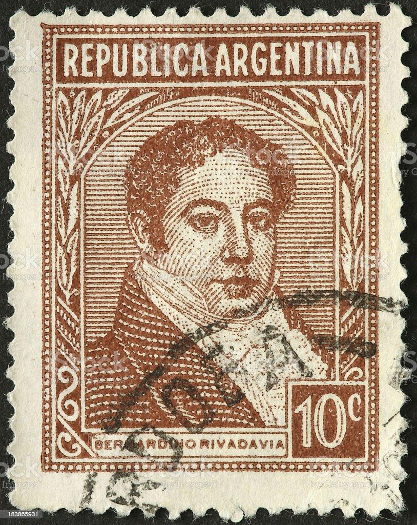 Bernardino Rivadavia, first Argentine president 1826 royalty-free stock photo