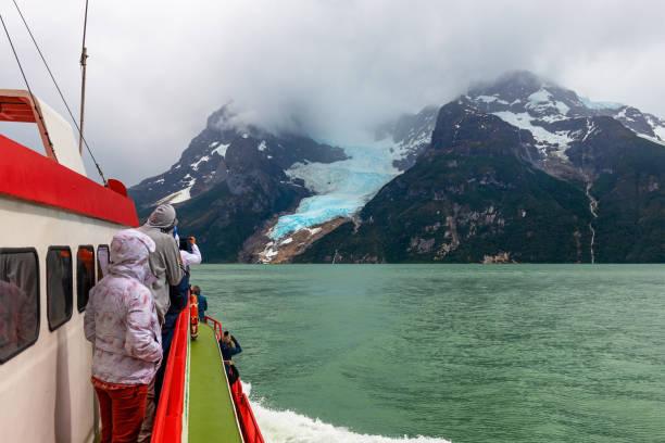 Bernardo O'Higgins national park tourist cruise, Chile stock photo
