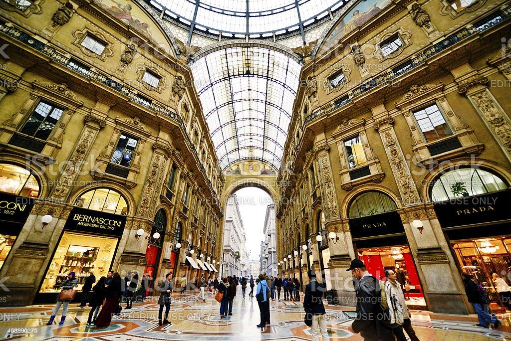 Bernasconi And Prada Stores At Galleria Vittorio Emanuele Ii Mi