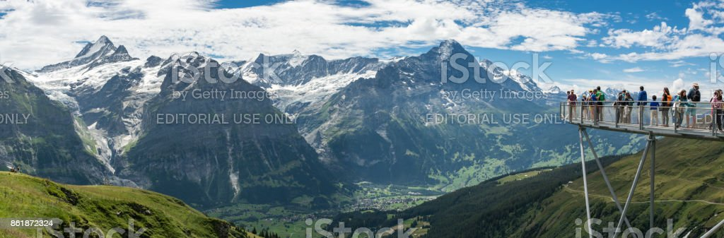Bernese Alps from viewing platform in Grindelwald First stock photo