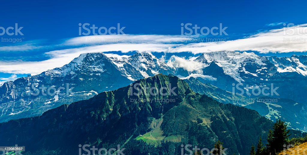 Bernese Alps panorama from Schynige Platte - VII royalty-free stock photo