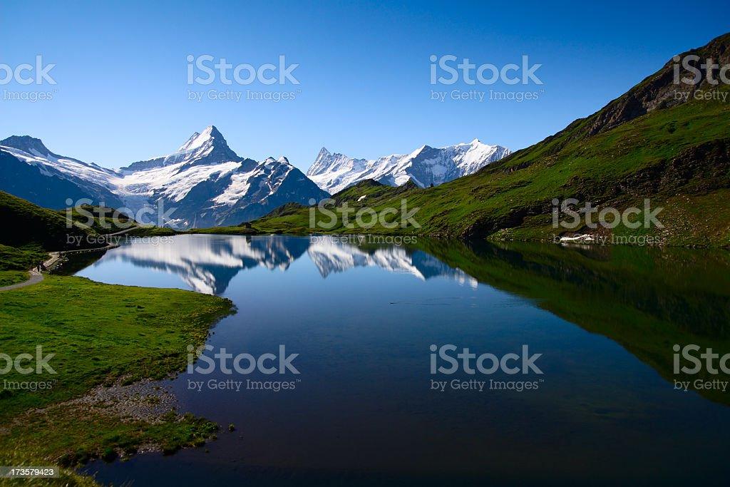 Bernese Oberland in beautiful Swiss royalty-free stock photo