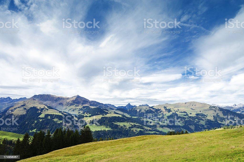 Bernese Oberland landscape royalty-free stock photo