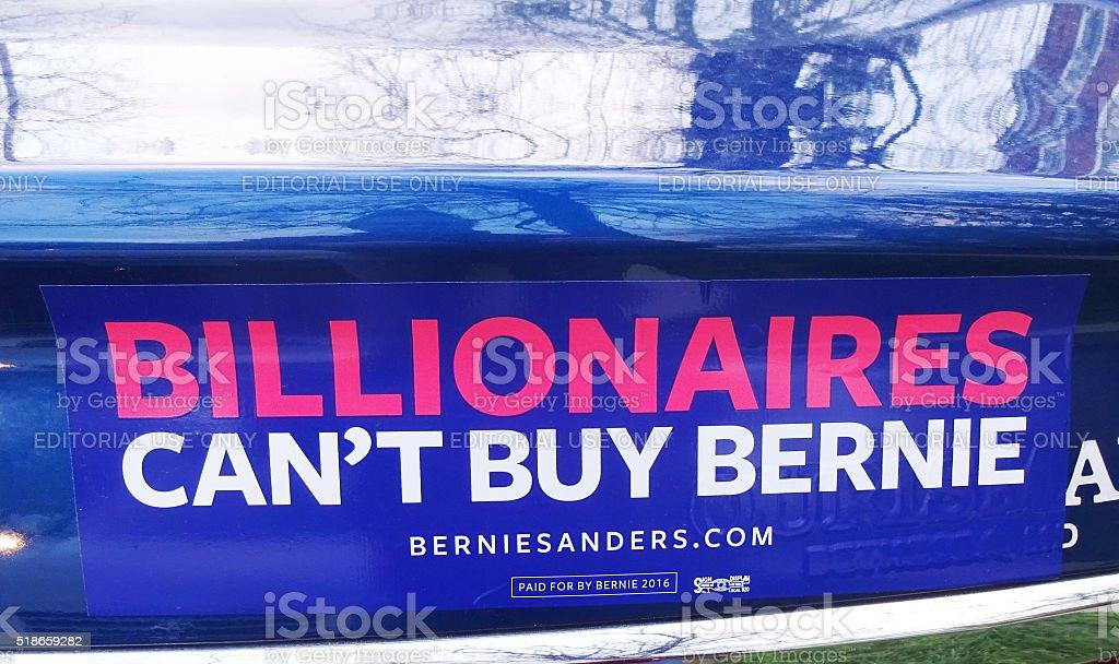Bernie Sanders Bumper Sticker stock photo
