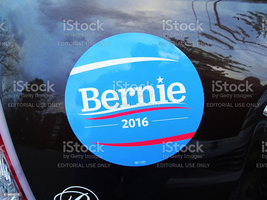 Bernie Sanders Campaign Bumper Sticker stock photo