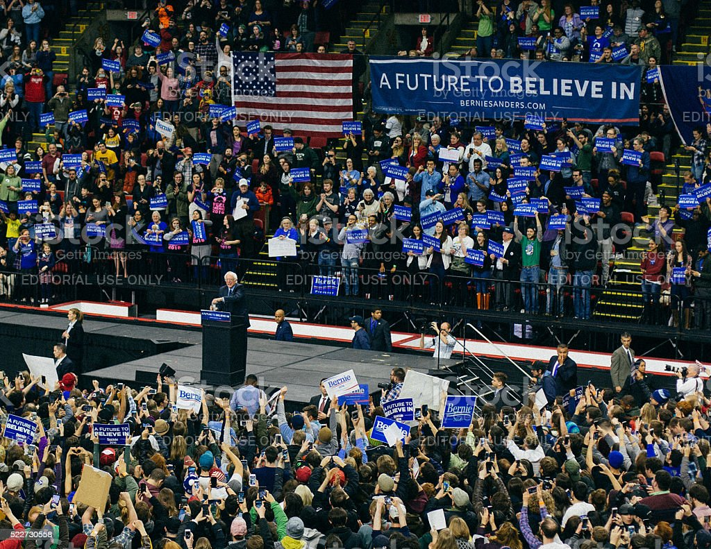 Bernie Sanders Rally stock photo