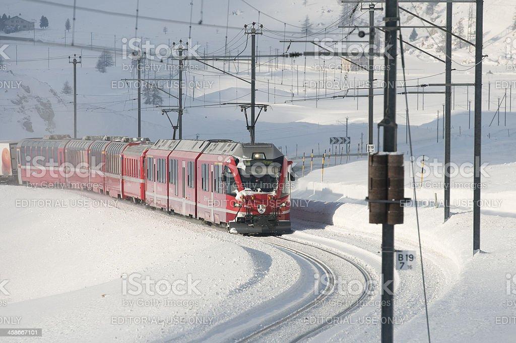 Bernina Express royalty-free stock photo