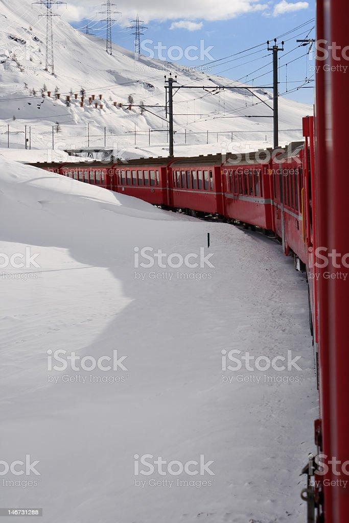 Bernina Express, Switzerland royalty-free stock photo