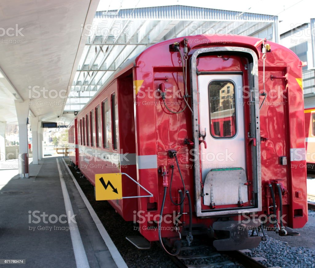 Bernina railway stock photo