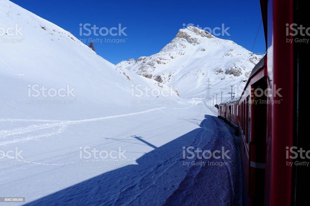 Bernina Railway stock photo