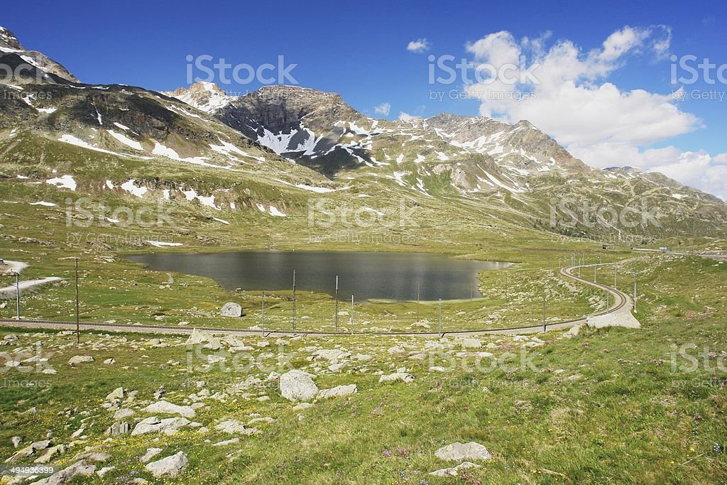 Berninapass, Switzerland stock photo