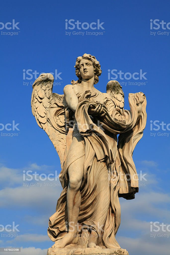 Bernini Angel, Rome, Italy stock photo