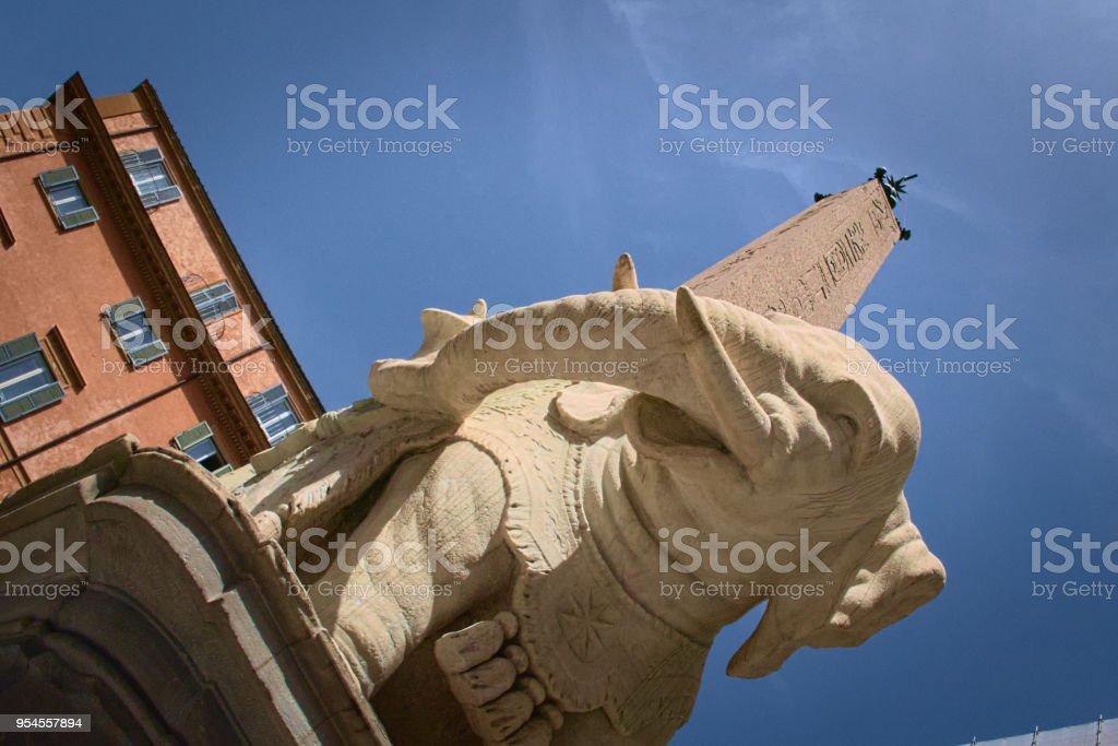 Bernini Elephant in Rome stock photo