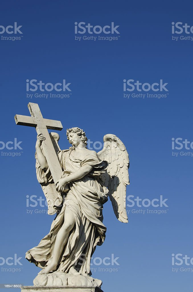 Bernini's Angels, Rome stock photo