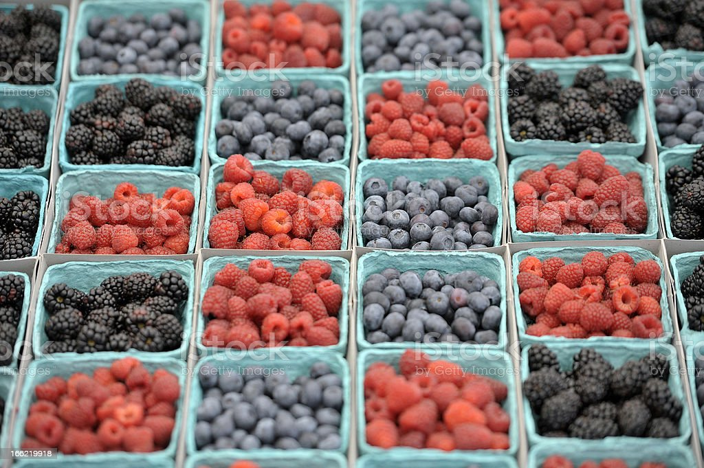 Berries at Farmers Market royalty-free stock photo