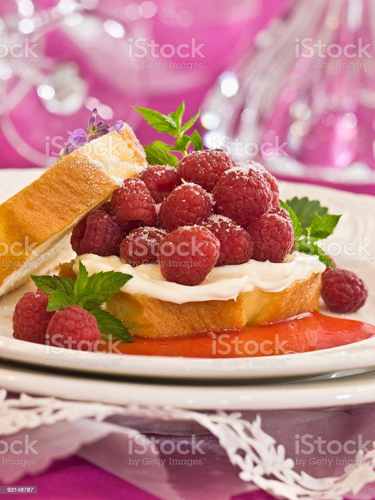 berries & creme stock photo