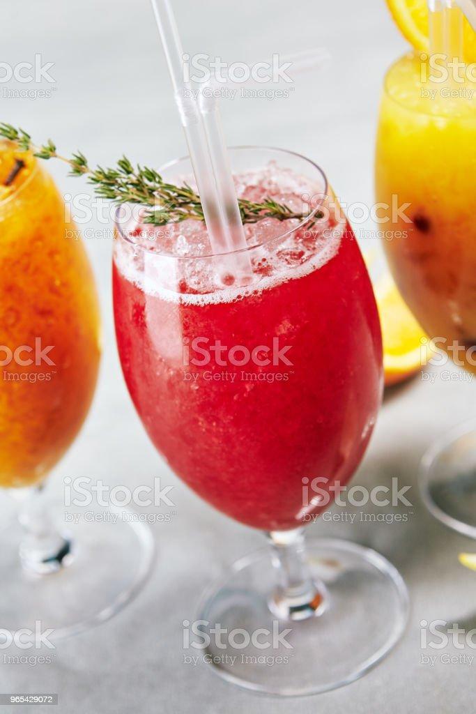Berries Drink with Fresh Thyme zbiór zdjęć royalty-free
