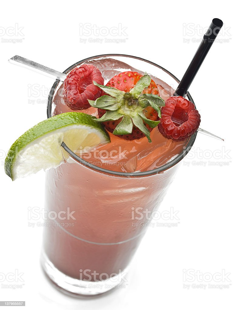 Berries Fruit Punch royalty-free stock photo