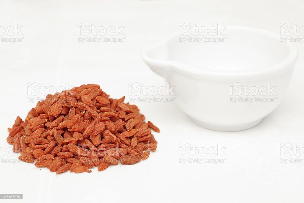 Berries, goji royalty-free stock photo