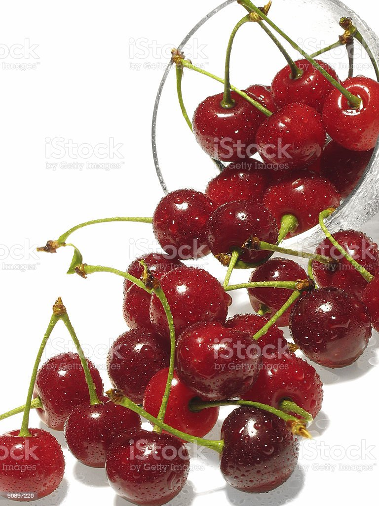 Berries  in drops of water. royalty-free stock photo