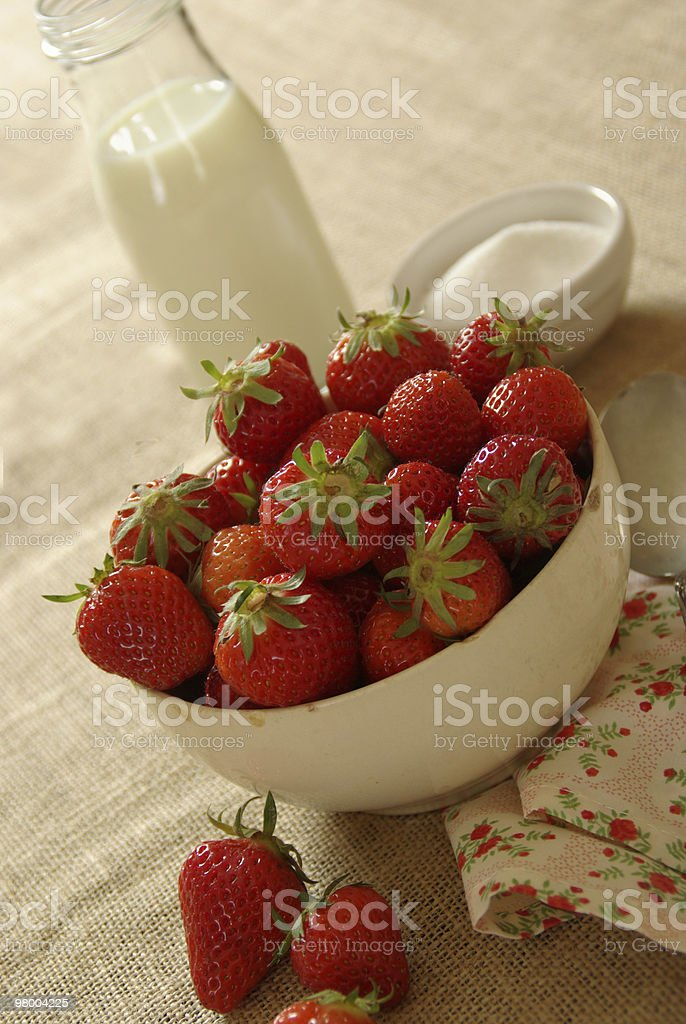 Berries n' Cream royalty-free stock photo