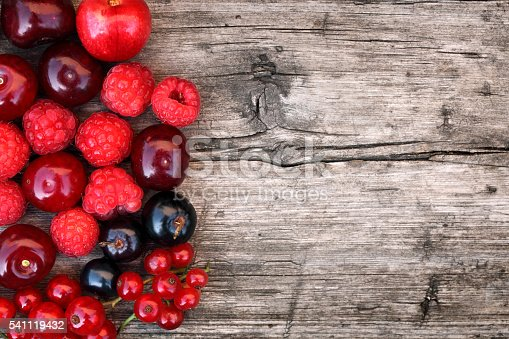 Berries on the table.