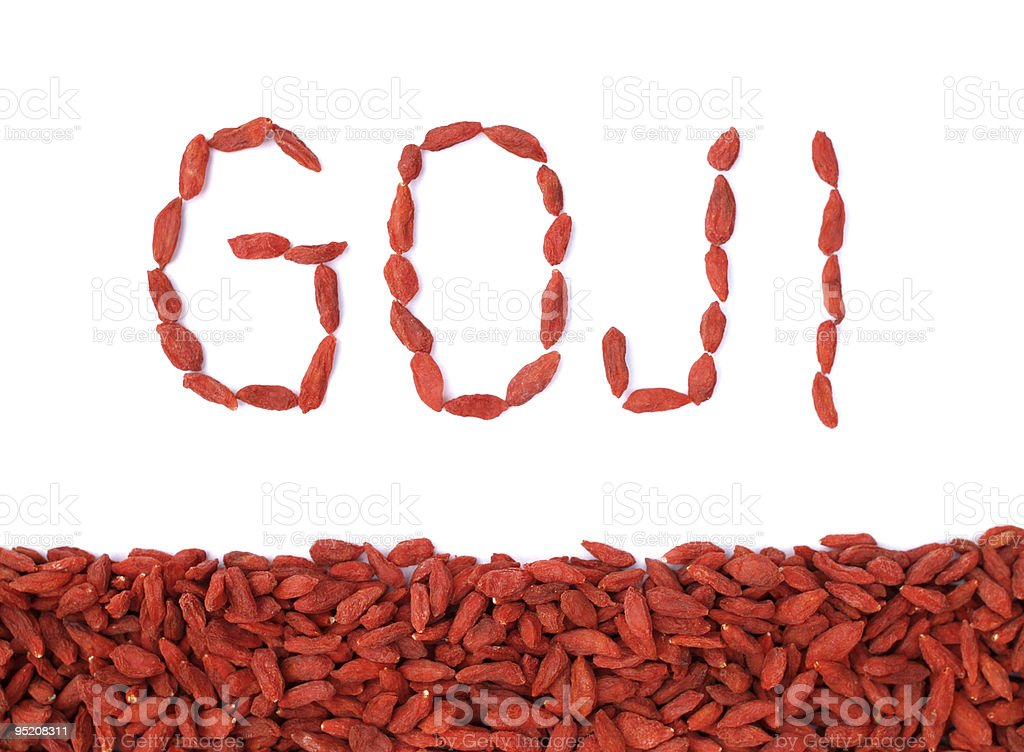 GOJI berries - sign royalty-free stock photo
