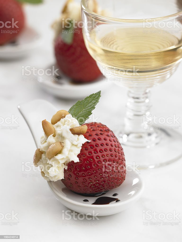 Berries with wine royalty-free stock photo