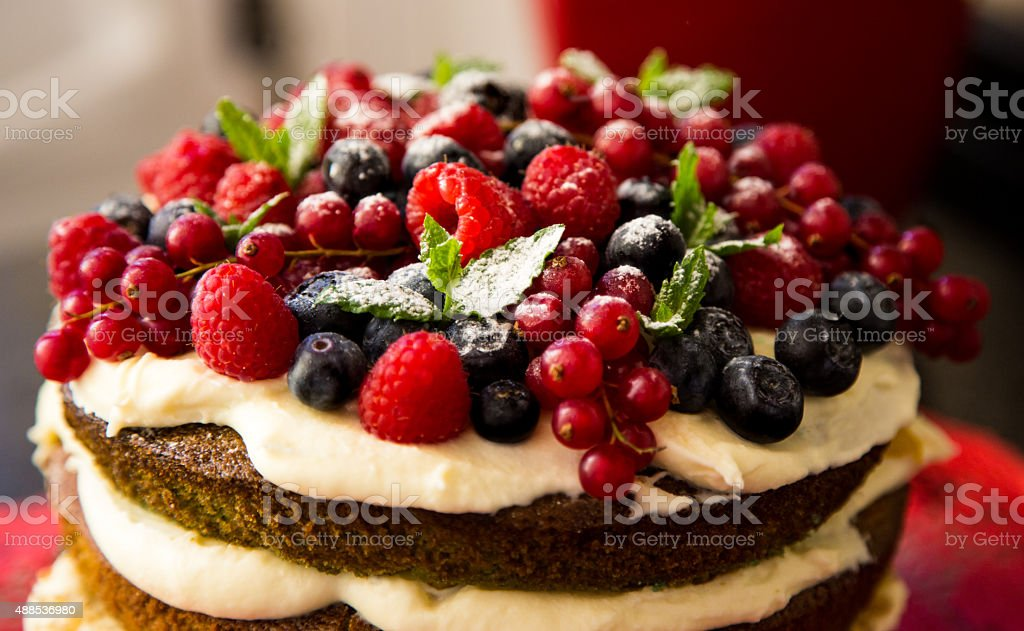 Berry cake stock photo