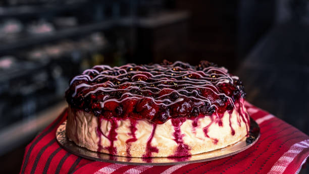 Berry Cheesecake stock photo
