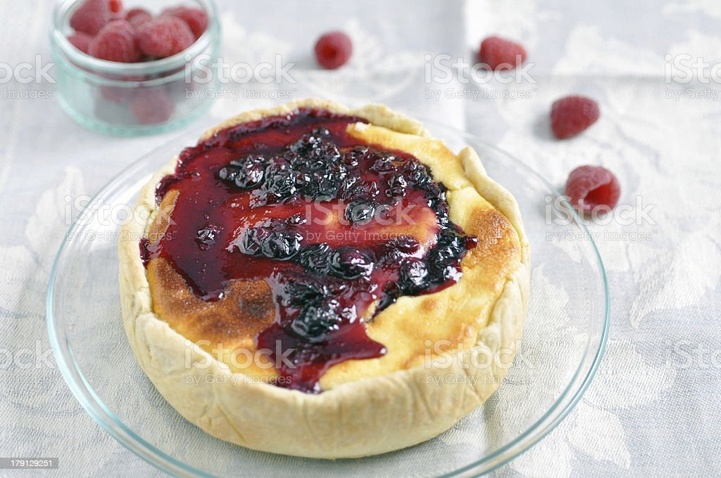 Berry Cheesecake royalty-free stock photo
