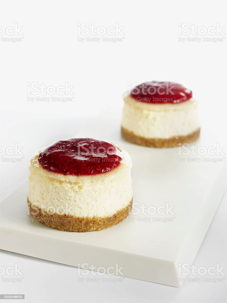 berry cheesecakes stock photo