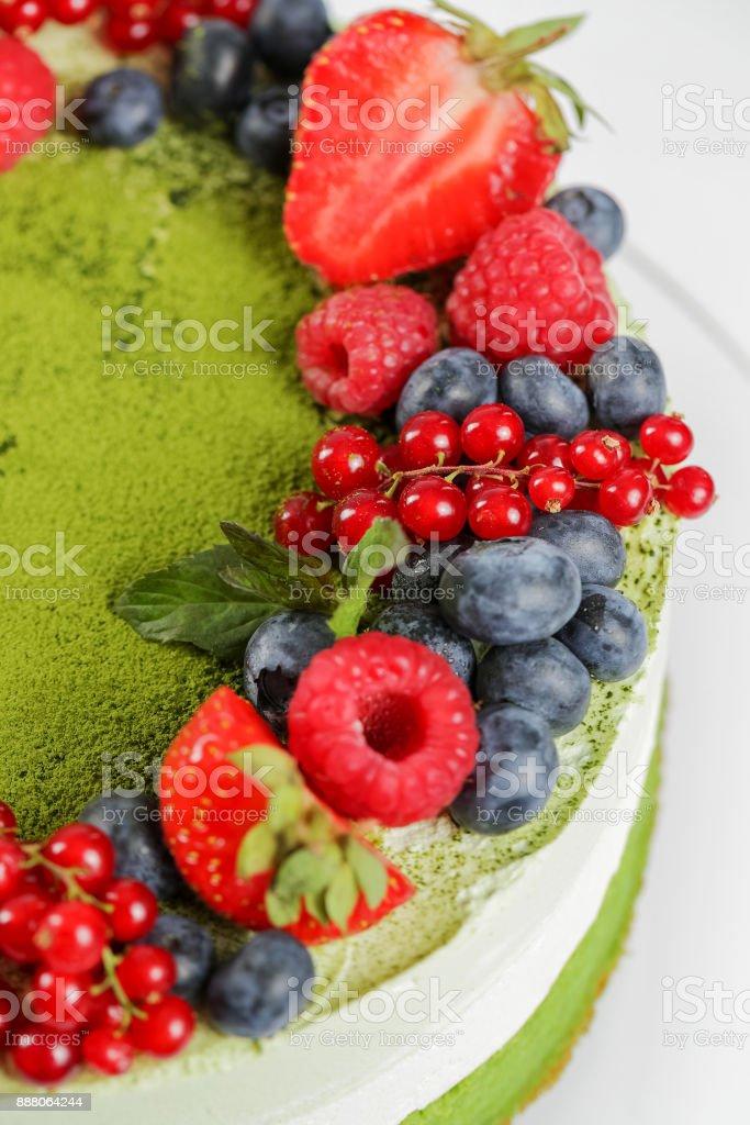 Berry fruit cake stock photo