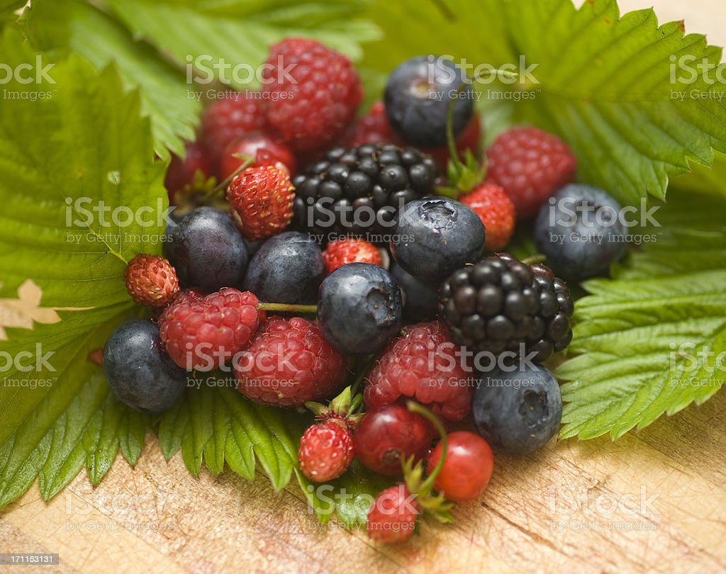 berry fruits - Walderdbeeren royalty-free stock photo