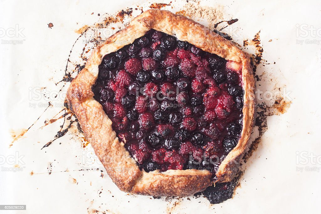 berry galette stock photo
