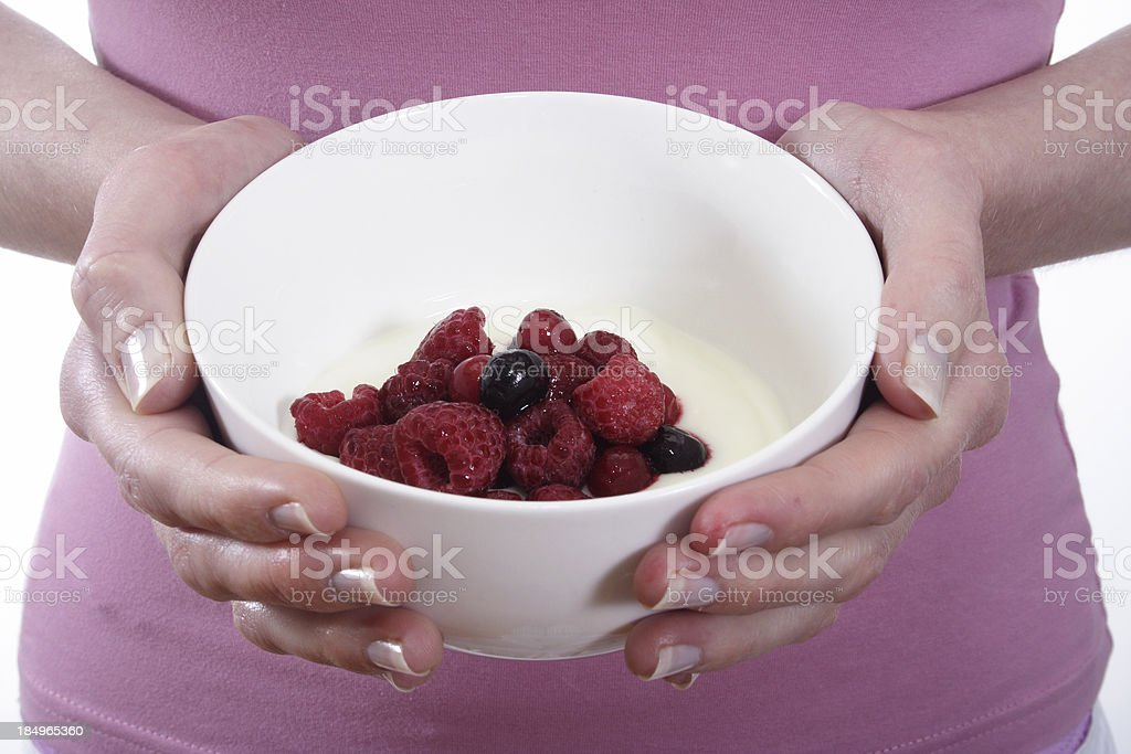 berry good breakfast stock photo