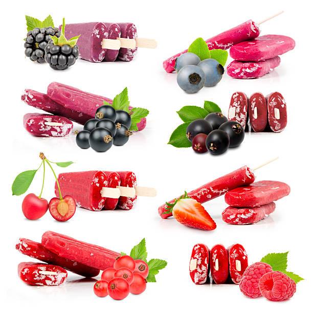 berry-ice cream - roter holunder stock-fotos und bilder