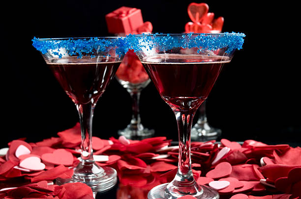 Berry Martini stock photo