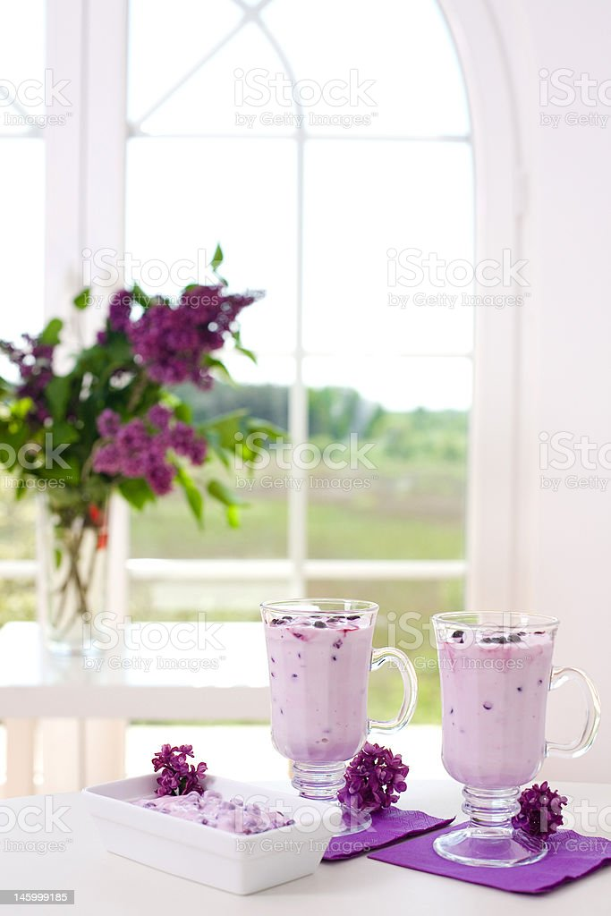 berry milkshake royalty-free stock photo