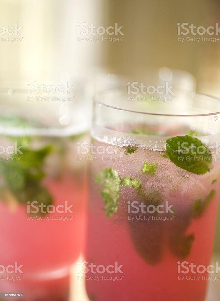 Berry mojito stock photo