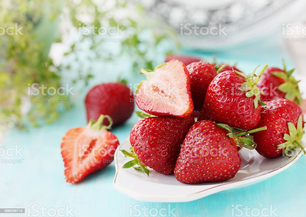 berry on a plate royalty-free stock photo