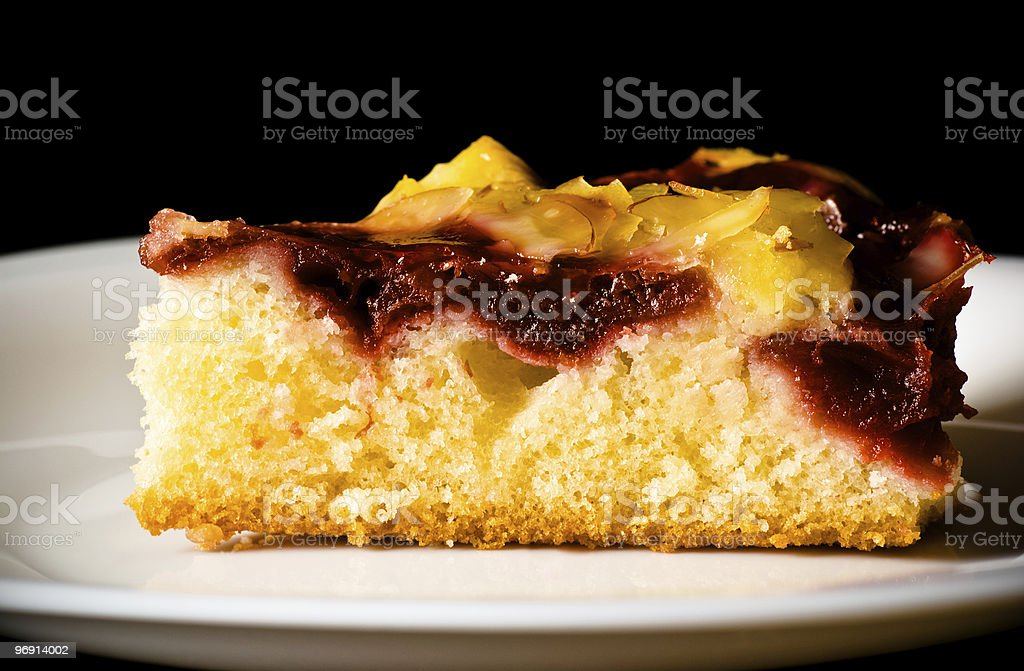 berry pie on white dish royalty-free stock photo
