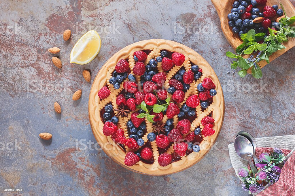 Berry pie stock photo