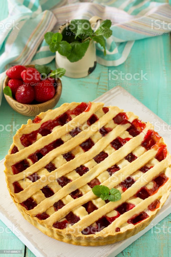 Berry pie summer. Sweet pie, tart with fresh berry strawberries....