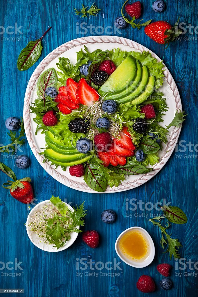 Berry salad royalty-free stock photo