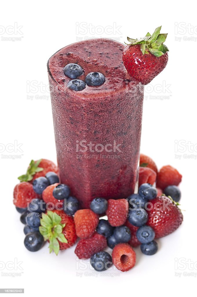 Berry Smoothie royalty-free stock photo