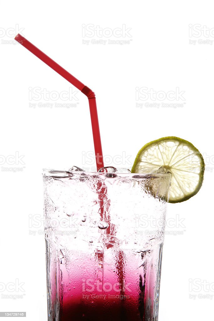 berry soda stock photo