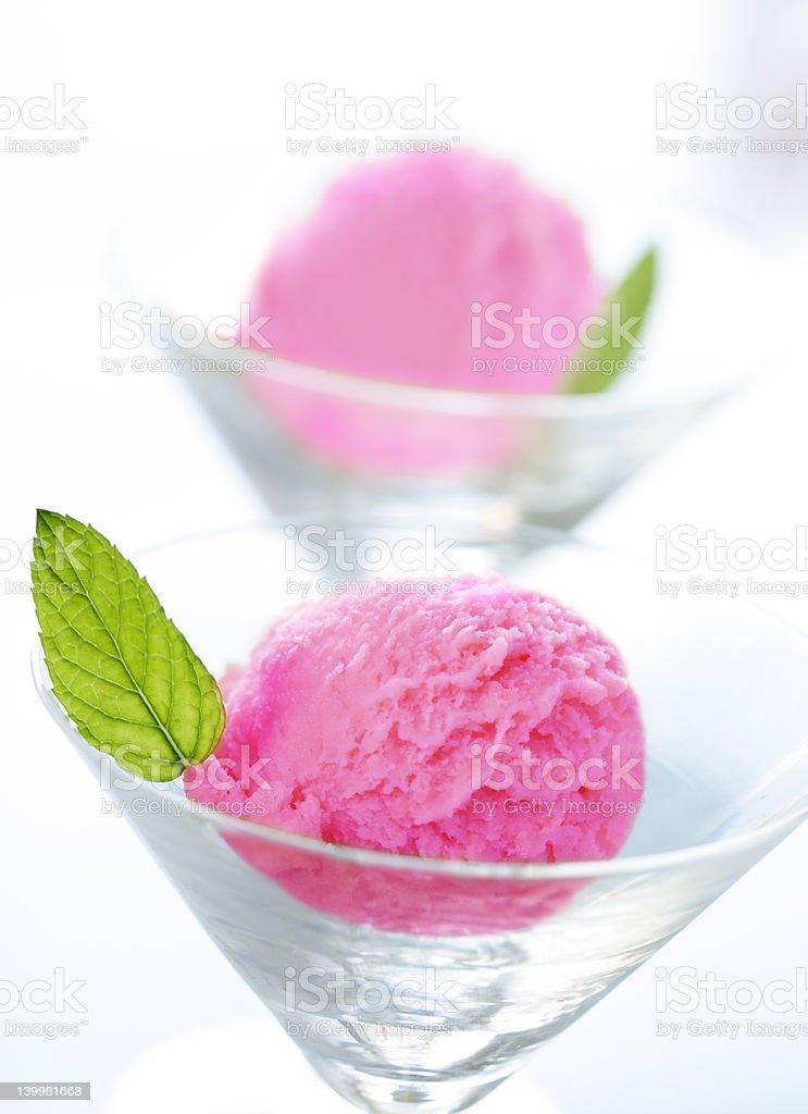 berry sorbet stock photo